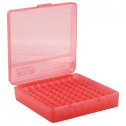 MTM 100RD PISTOL BOX RED .45 P-100-45-29