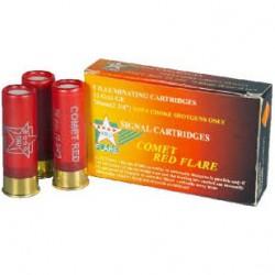 TRU FLARE-Red Flares 12Ga 70 mm 2 3 4 5P