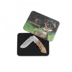 Browning knife shot whitetail tin