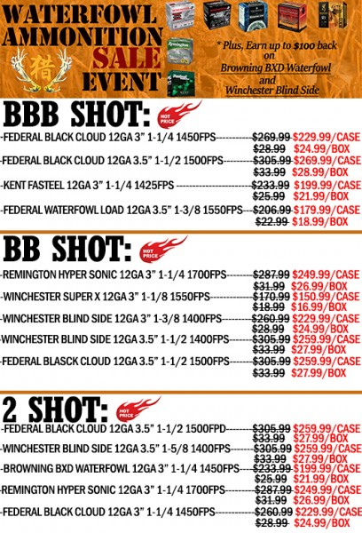 FLYER OF AMMO SALE
