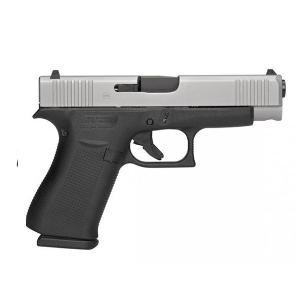 Glock 48 Semi-Auto Pistol, 9mm, 4 17″ (106mm) Barrel, 10 Rounds, Two Tone,  Glock Night Sights (GNS), PA485SL701
