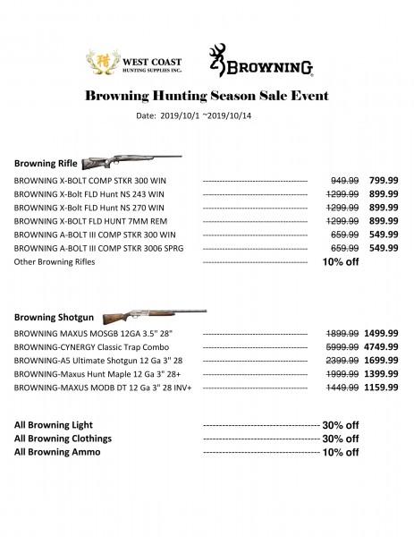 Browning Sale list123456-1
