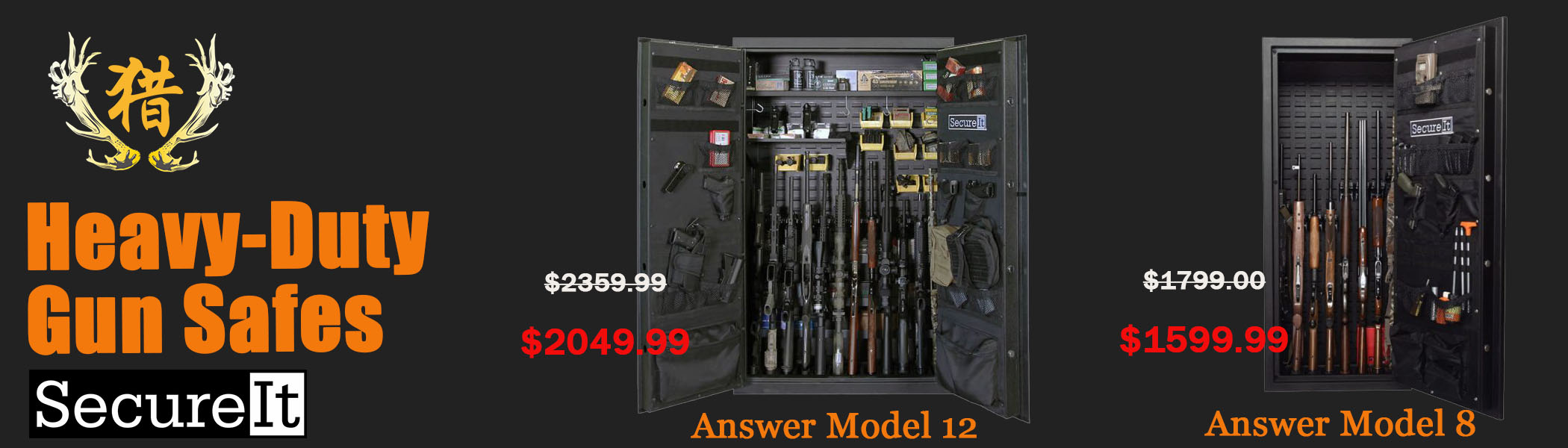 SecureIt heavy-duty gun safes on sale